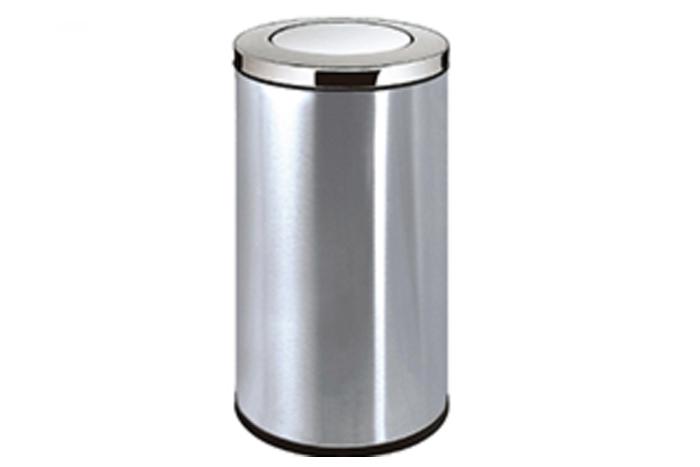 办公楼圆形不锈钢垃圾桶110B