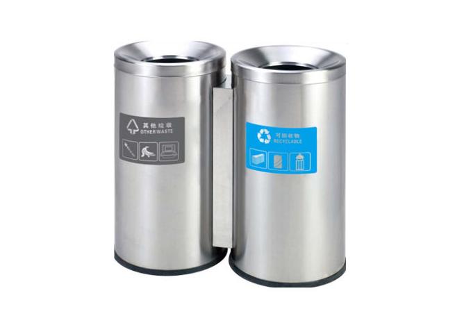 商场bu锈钢fen类垃圾桶A178