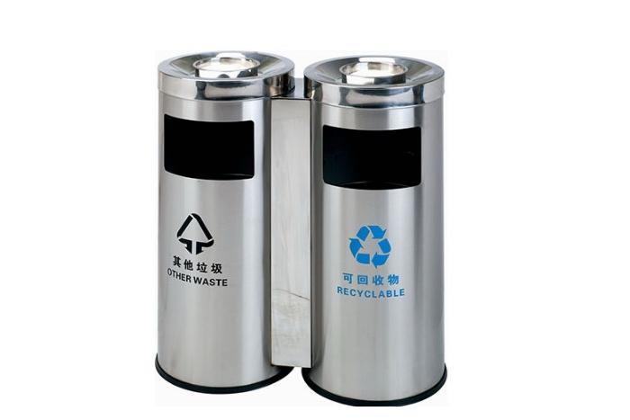 不锈钢分类垃圾桶商场垃圾桶A178B