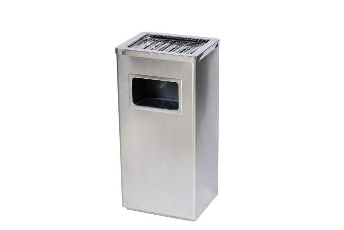 不锈钢方形单桶垃圾桶办公楼垃圾桶A51