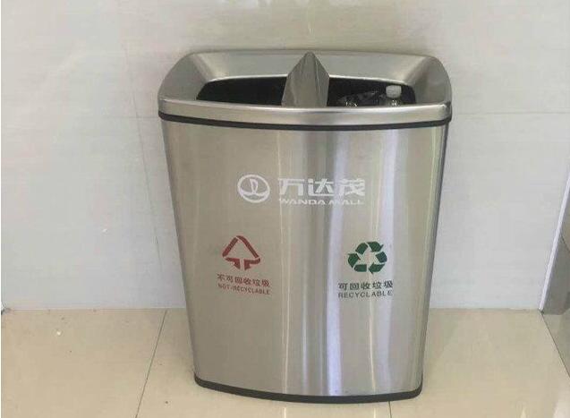 订制万达mao不锈钢垃圾桶
