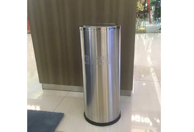 订制ji然zhi家不锈钢单桶垃圾桶